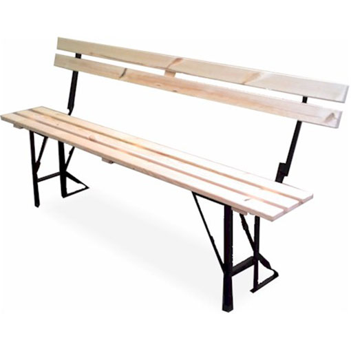 Folding Bench with Back Support